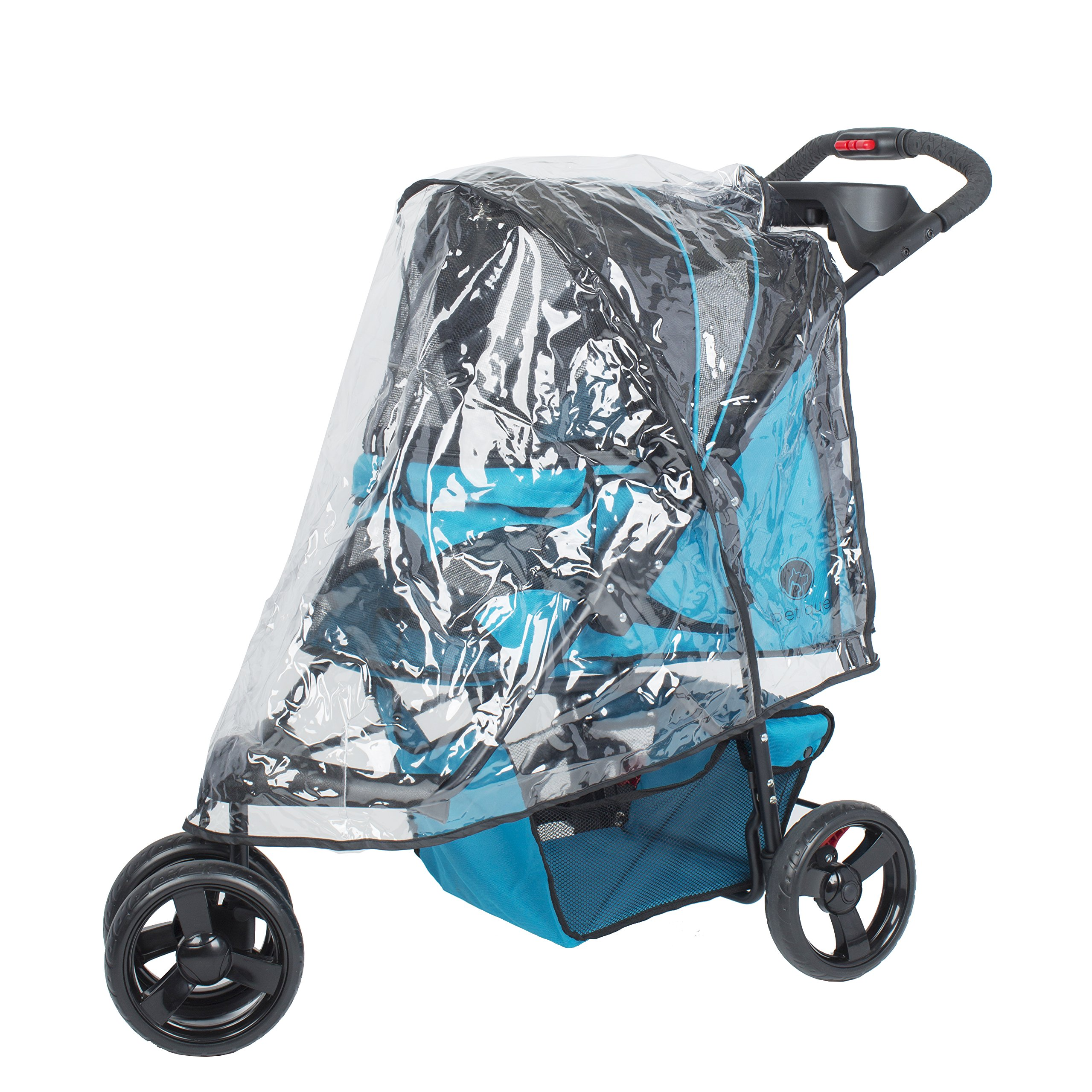 PETIQUE RC02000000 PVC Rain Cover for Pet Jogger, Clear, One Size