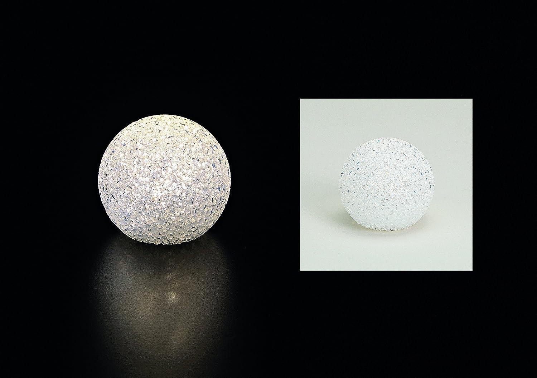 DekoStore LED Bombilla Bola - 8 cm - Color Blanco Bombilla Balón ...