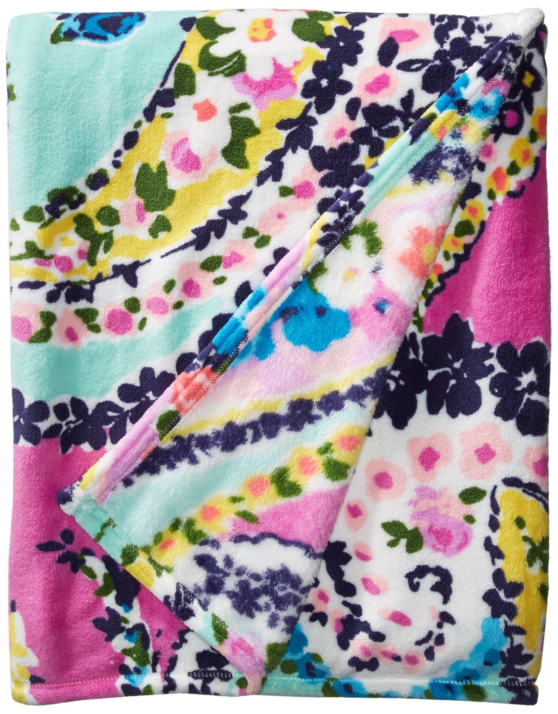 Vera Bradley Throw Blanket, Fleece, Wildflower Paisley