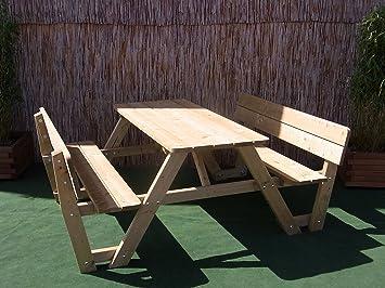 Amazon De Picknicktisch Bierbank 150 Cm Picknickbank Bank Tisch Mit
