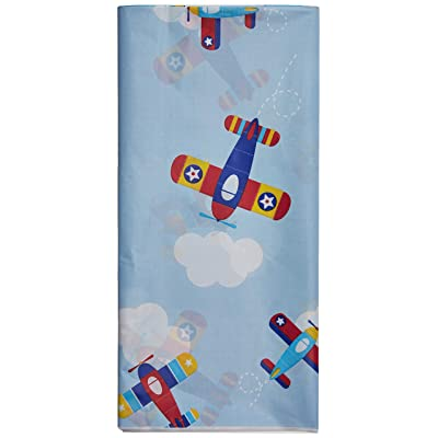 "Creative Converting 332212 PLASTIC TABLECOVER ALL OVER PRINT, 54"" X 102"", One Size, Multicolor: Kitchen & Dining"
