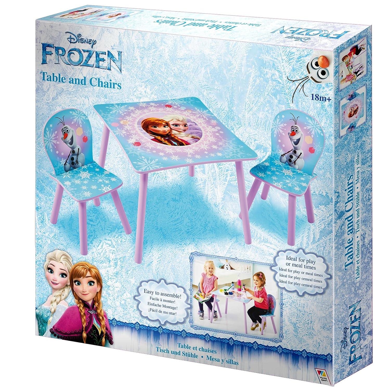 Moreno 63.00x63.00x45.00 cm Madera Frozen Conjunto de Mesa y Dos sillas