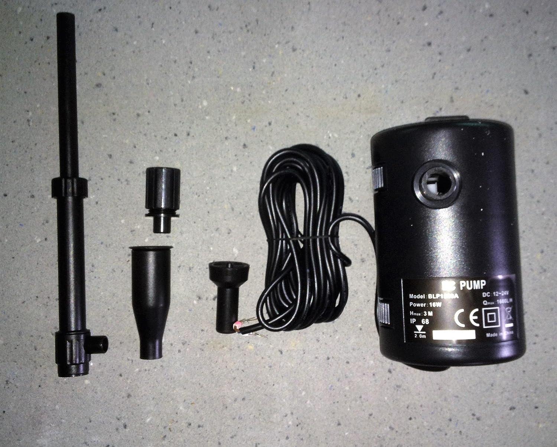 Bomba 12/24V Bitensión o Solar Directo para Fuentes y ...