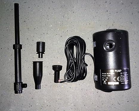 Bomba 12/24V Bitensión o Solar Directo para Fuentes y Charcas 1600L/Hora