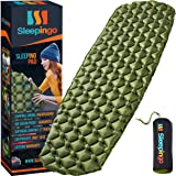 Sleepingo Camping Sleeping Pad - Mat, (Large), Ultralight 14.5 OZ, Best Sleeping Pads for Backpacking, Hiking Air Mattress -
