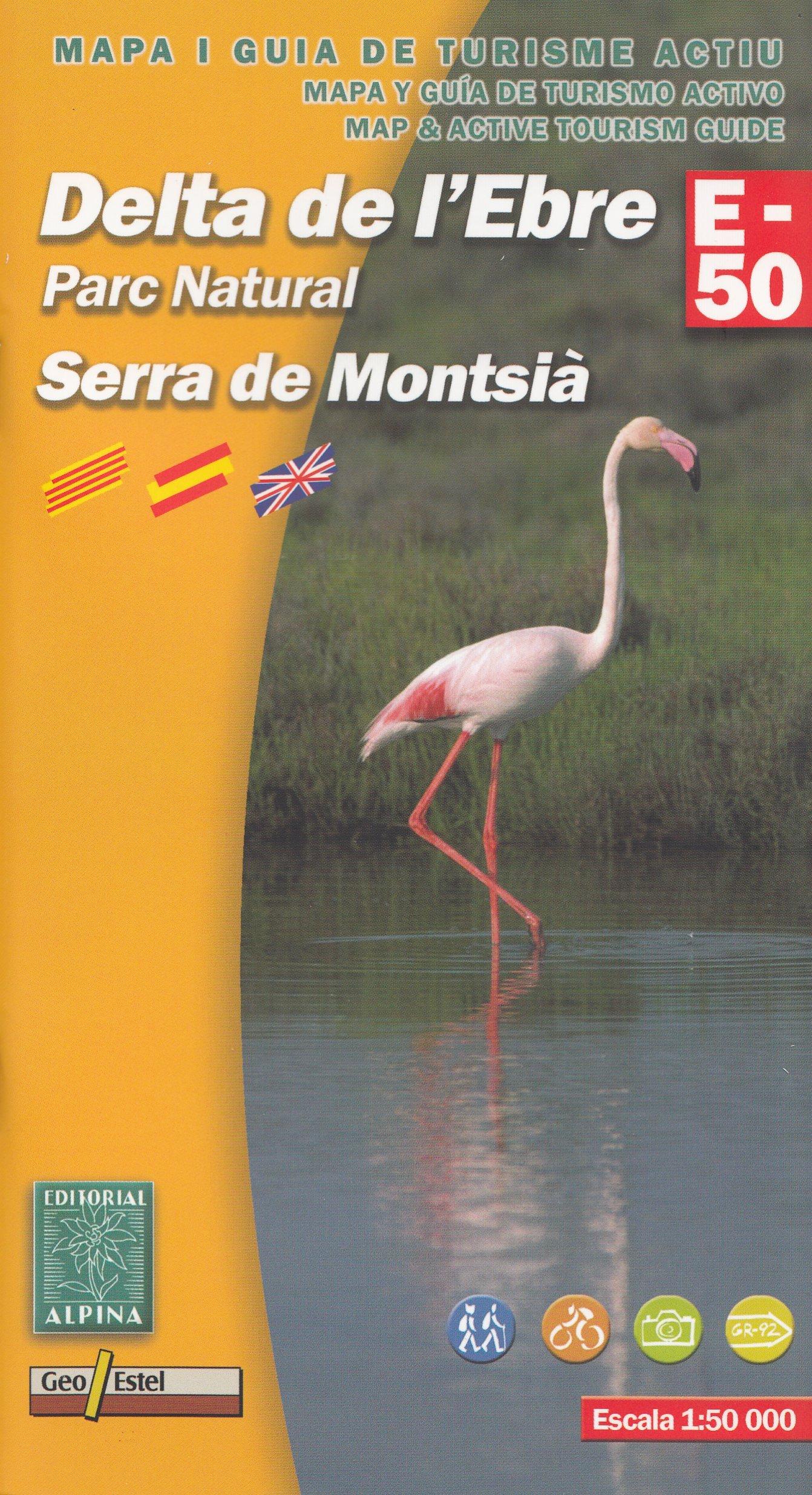 Delta del Ebro PN del Delta de lEbre 1:50.000 mapa y guía ...