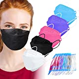 LUCIFER Comfortable 4 Layer Face Mask made for Adults Multicolor, 50PCS 4 Layers Individual Packs Disposable Face Mask with E