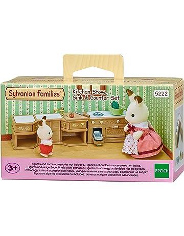 SYLVANIAN FAMILIES Sylvanian Families-5054131052228 Set Horno, Fregadero y encimera Cocina Epoch para Imaginar