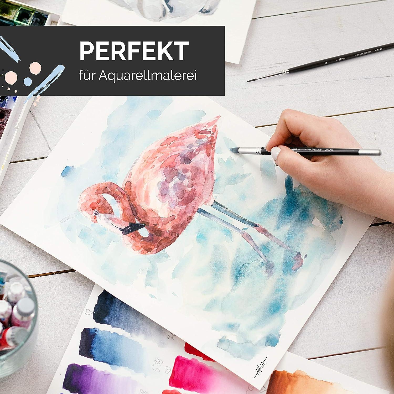 Pinsel I Paint Brush Set K/ünstlerpinsel Pitello 10er Pinselset Malen f/ür Aquarell /Ölfarben und Acryl I Aquarellpinsel Acrylpinsel