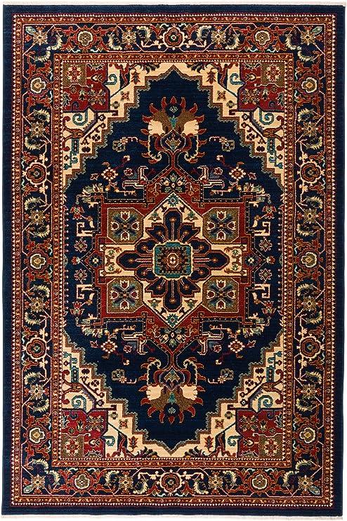 BRAND NEW 5X8 AREA RUG ORIENTAL STYLE BLUE /& CREAM PERSIAN ORIENTAL