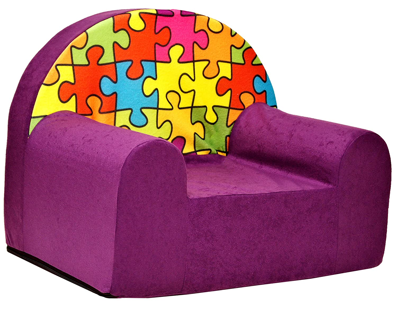 Kindersessel Mini-Sessel Kindersofa Baby Sofa Kinderstuhl Relaxsessel LILA BAUSTEINE Welox