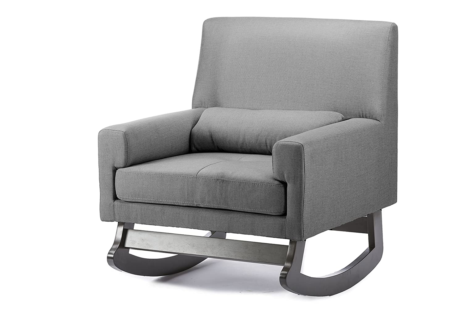 Lovely Amazon.com: Baxton Studio Imperium Wood And Linen Contemporary Rocking Chair  With Pillow, Gray: Kitchen U0026 Dining