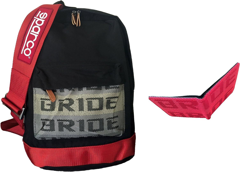 Bride mochila Sparco JDM con arnés de carreras rojo y rojo Bride ...