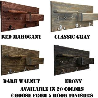 Belmont Home Norcross 8-Hook Wooden Standing Coat Rack BH