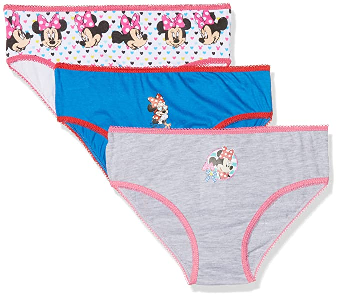 Disney Minnie Mouse, Slip para Niñas, (Box3 19-4151TC), 4