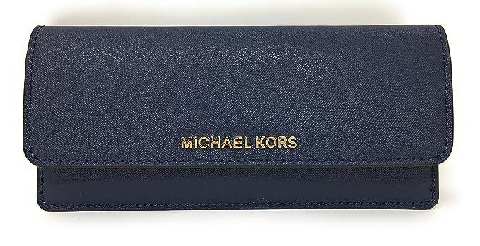 9e6248f2acda Michael Kors Jet Set Travel Flat Saffiano Leather Wallet (Navy) at ...