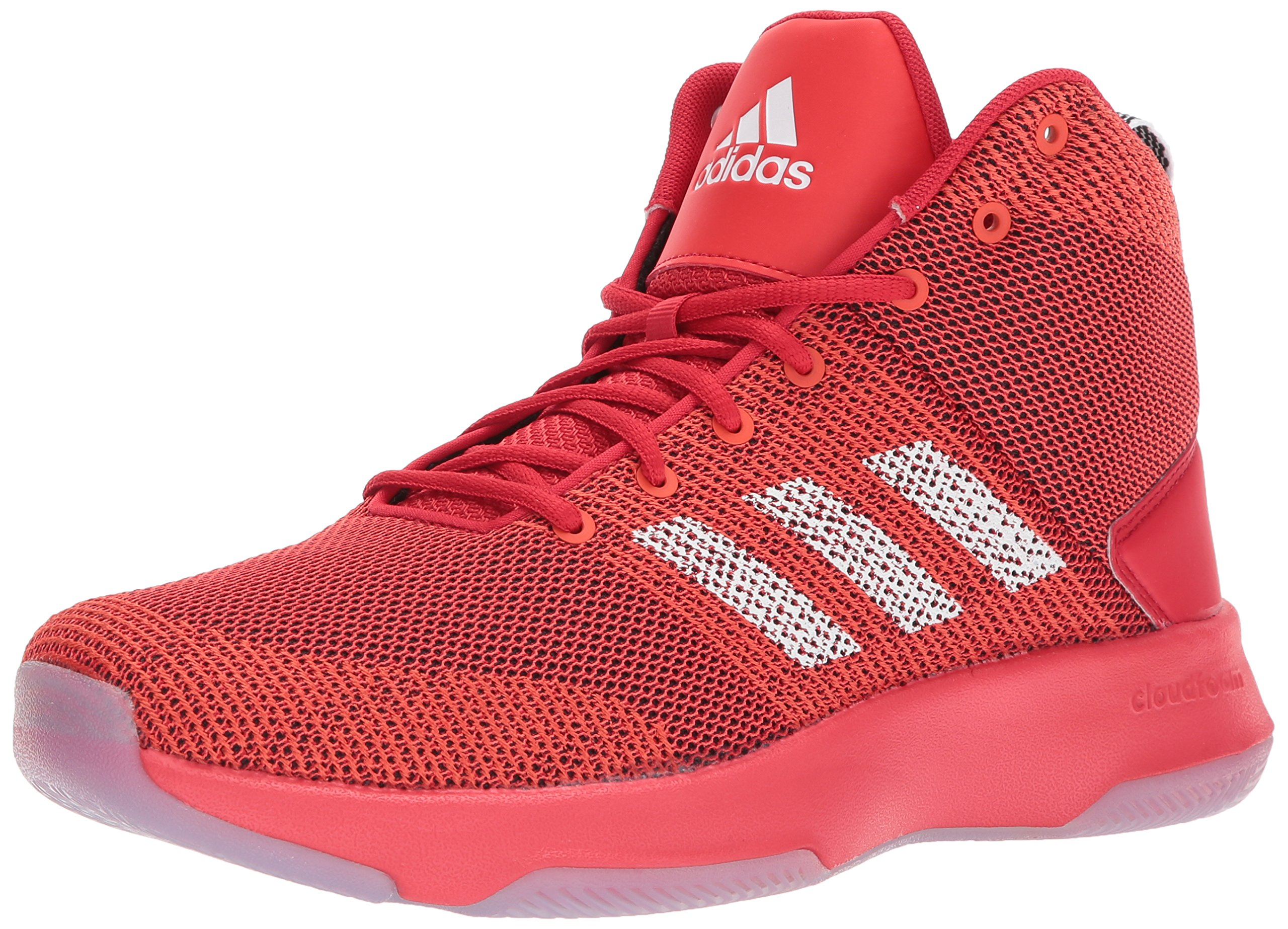 adidas Neo Men's CF Executor Mid Basketball-Shoes, Scarlet/White/CORE RED, 10.5 Medium US by adidas