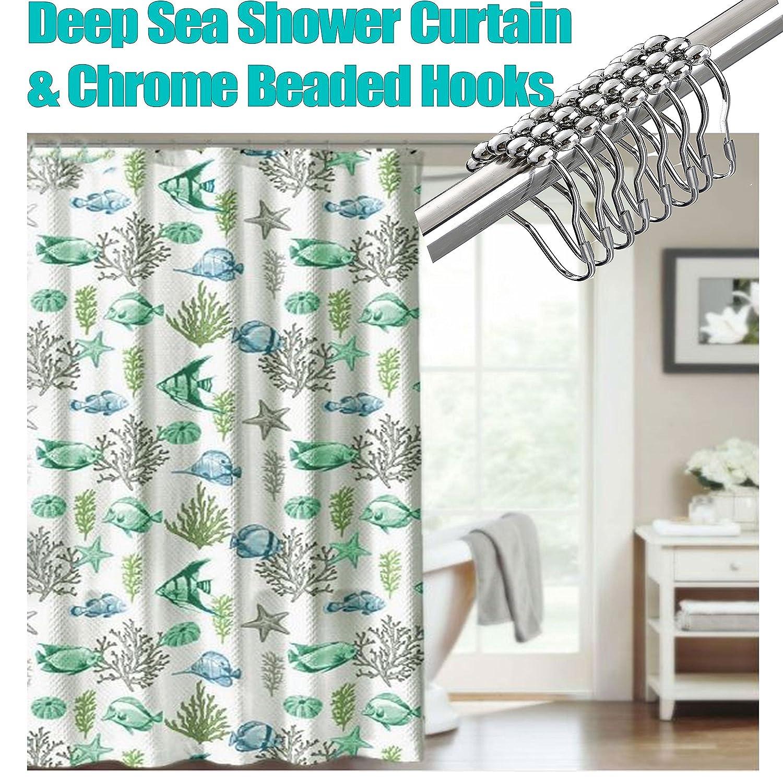 Amazon.com: CHD Home Textiles Deep Sea Fish Shower Curtain With ...