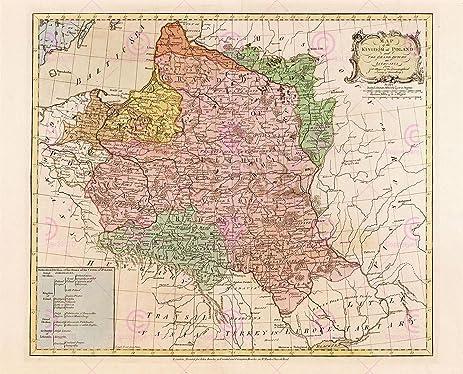 Amazoncom MAP ANTIQUE MAYER 1770 POLAND LITHUANIA OLD LARGE