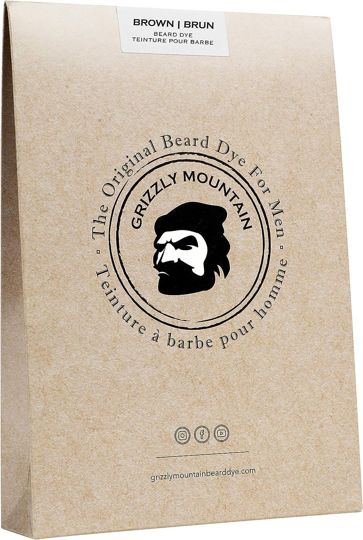 Tinte Orgánico de Barba Marrón Grizzly Mountain Beard Dye ...