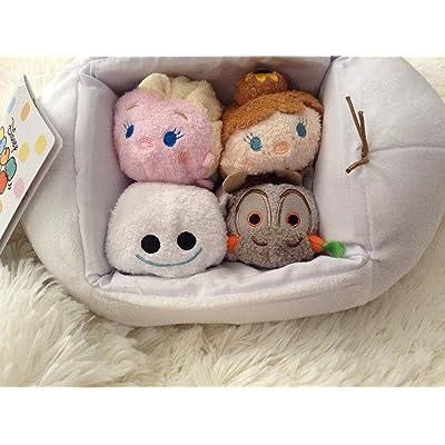 "Disney Tsum Tsum OLAF BAG SET FROZEN FEVER (Includes 3.5"" Tsum Tsums Elsa, Anna, Sven and a Snowgie): Toys & Games"