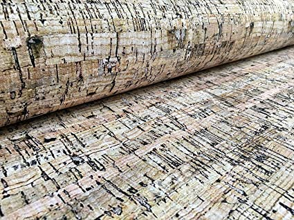 280cm EXTRA WIDE RUSTIC CORK Cotton Fabric Curtain Upholstery Material