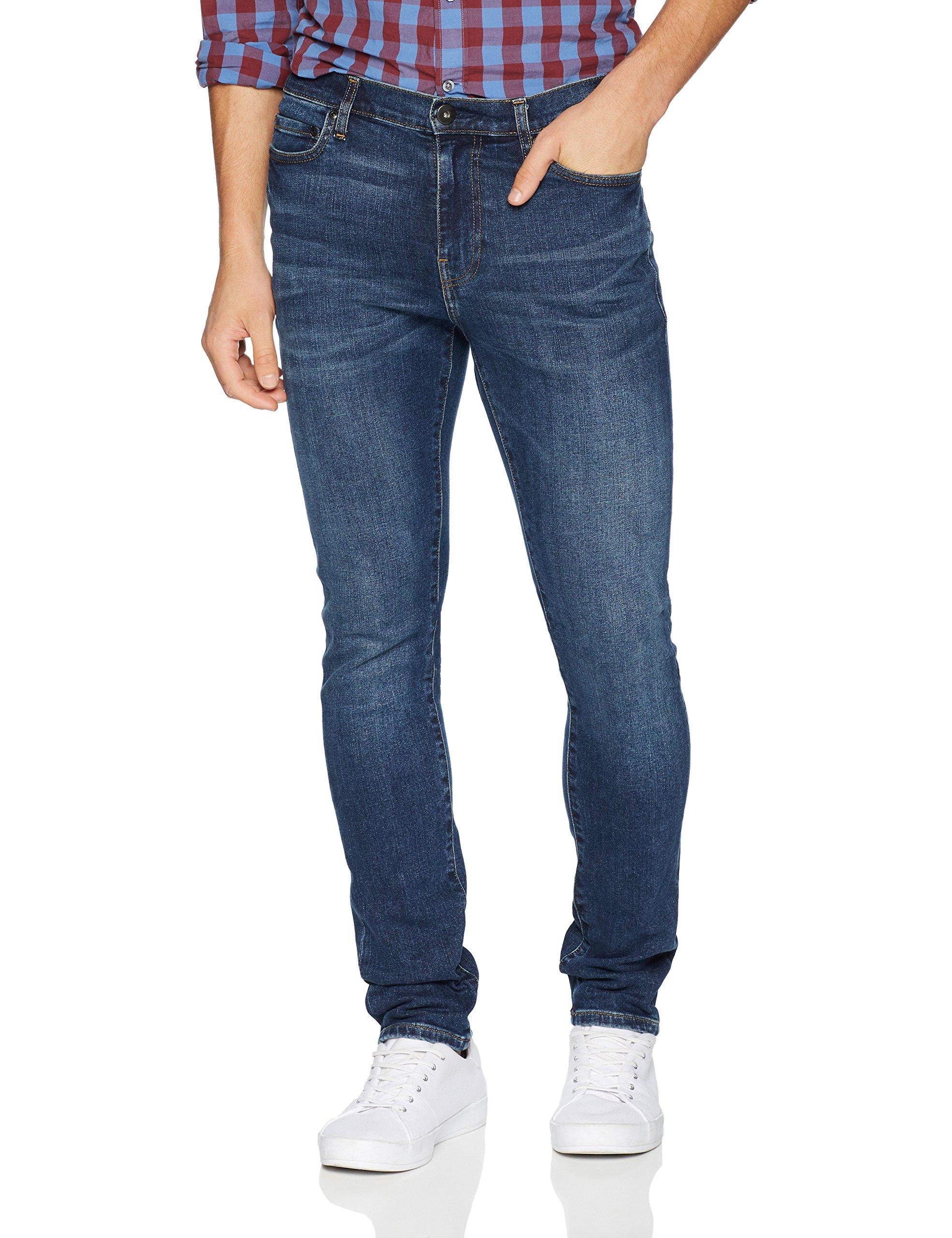 Goodthreads Men's Skinny-Fit Jean, Medium Blue, 38W x 34L