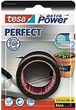 Tesa Extra Power Perfect - Cinta de tejido, 2.75 m x 38 mm, color negro
