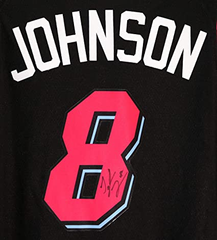 buy online 0ee40 d00cb Tyler Johnson Miami Heat Signed Autographed City Edition ...