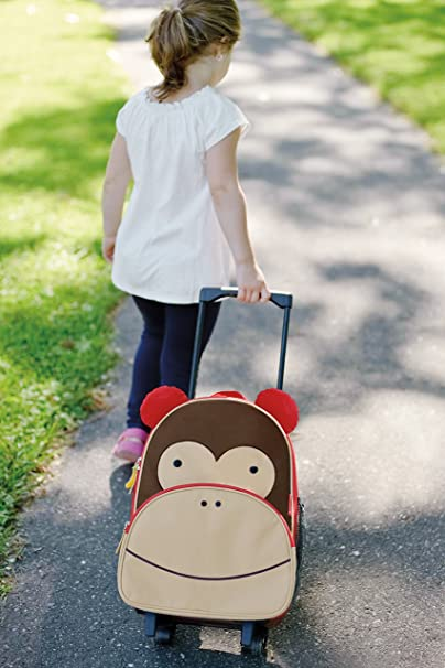 Skip Hop Zoo Little Kid Luggage, Monkey