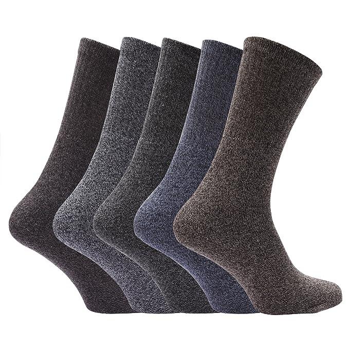 Calcetines básicos para botas hombre caballero (Pack de 5) (39-45 EU