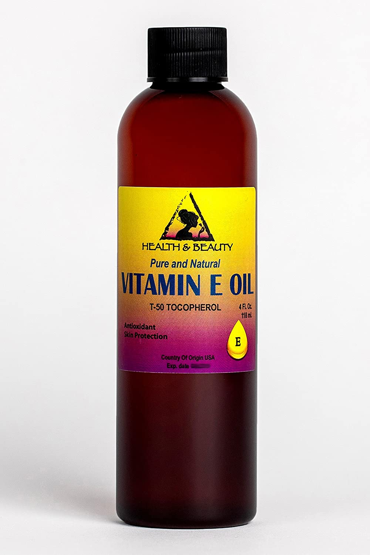 Tocopherol T-50 Vitamin E Oil Anti Aging Natural Premium Pure 4 oz, 118 ml H&B OILS CENTER Co.