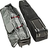Athletico Rolling Double Ski Bag - Padded Ski Bag with Wheels for Air Travel