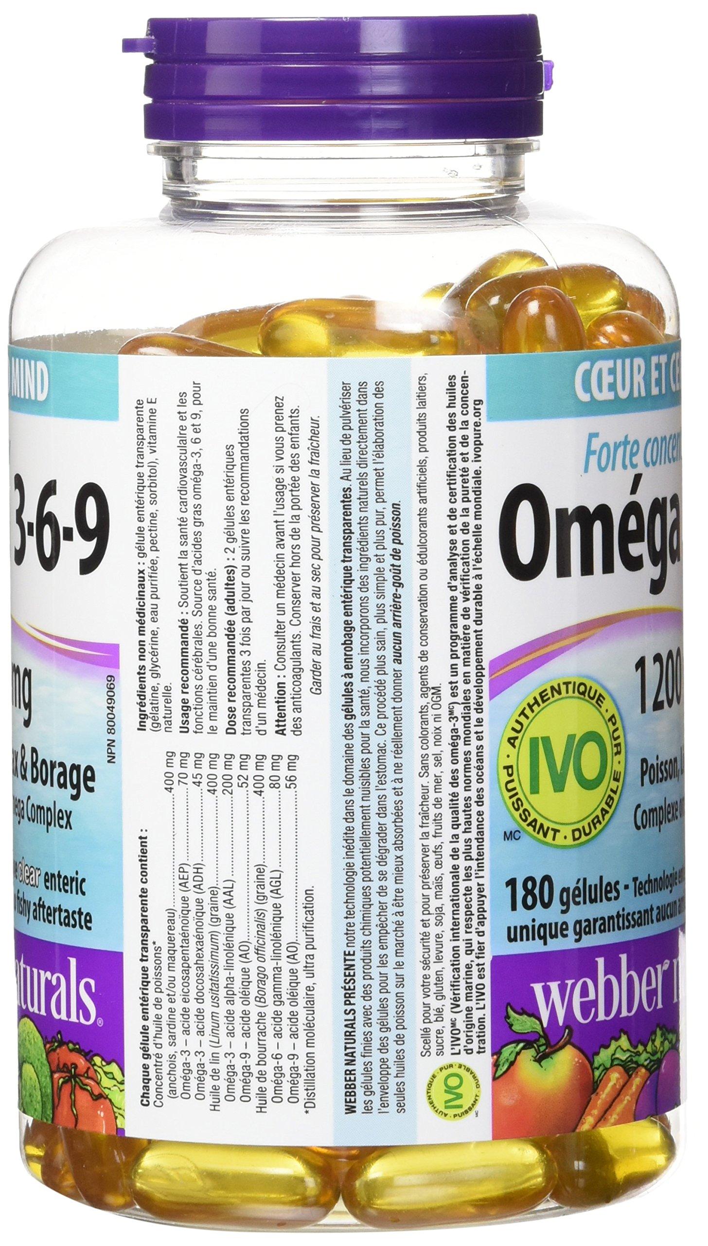 Webber Naturals Omega 3 6 9 High Potency 1200 Mg Fish Flax