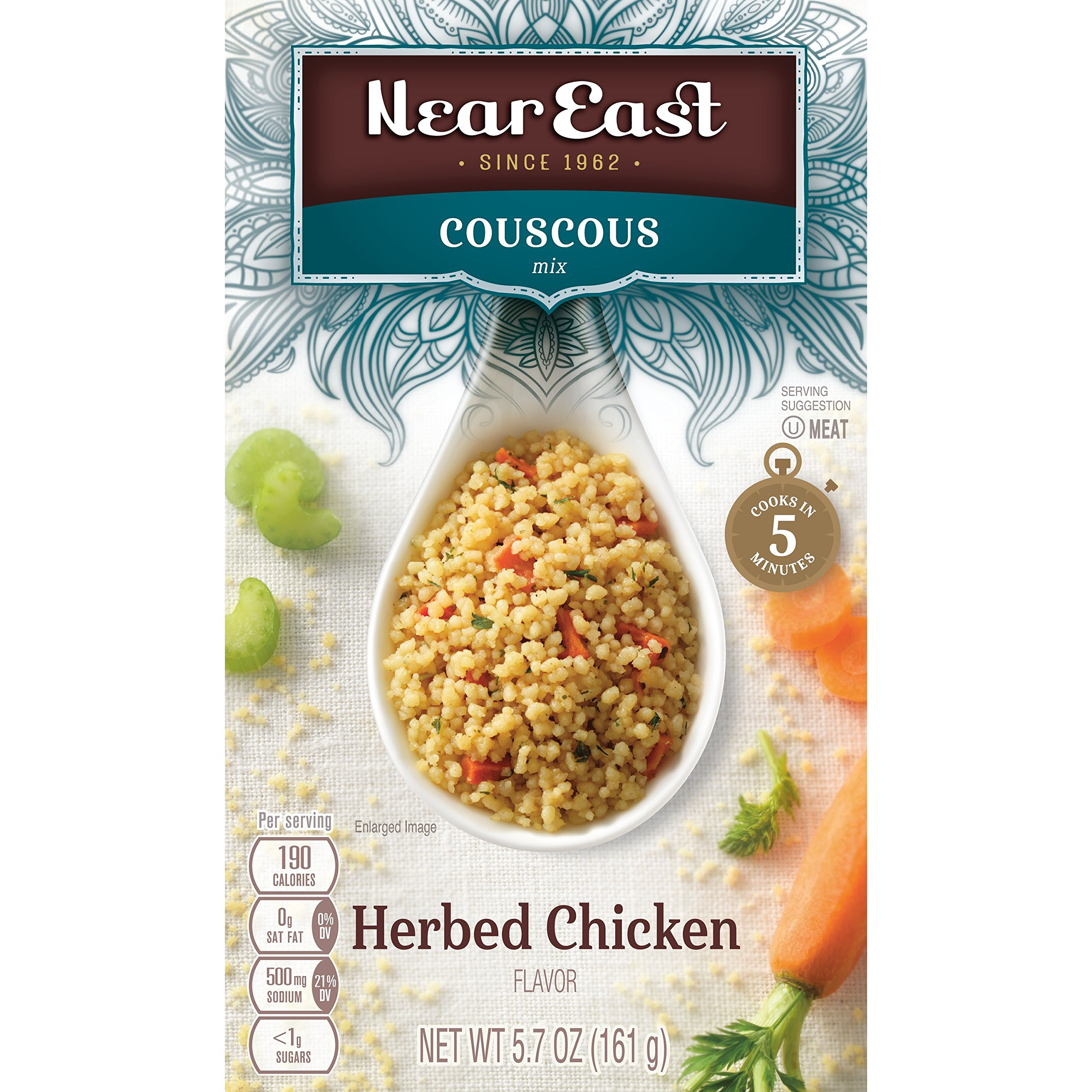 Near East Couscos Mix, Herbed Chicken (Pack of 12 Boxes)
