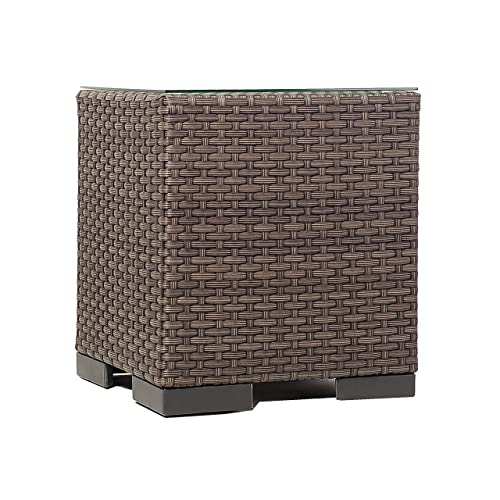 Atlantic Bellagio Grey Wicker Side Table