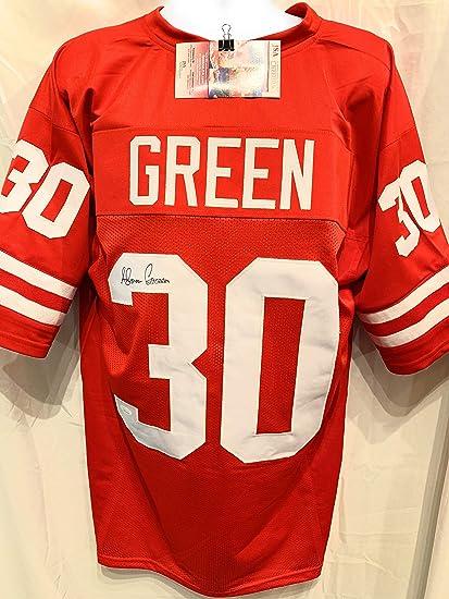 5a8384d2a8f Ahman Green Nebraska Cornhuskers Signed Autograph Red Custom Jersey JSA  Witnessed Certified