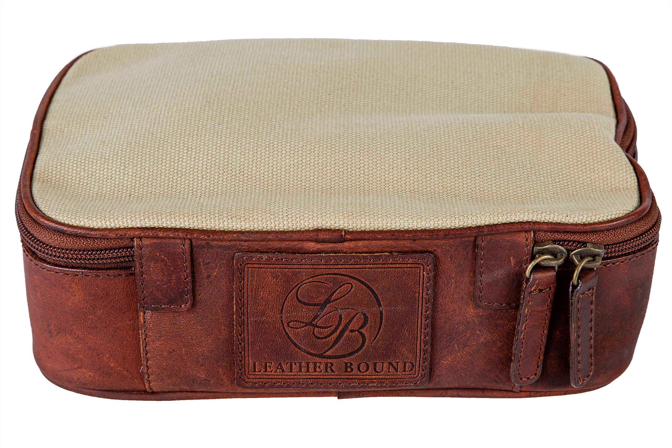 Multifunctional Travel Size Men and Woman's PU leather Zip-up Compartment Traveling Toiletry Bag.