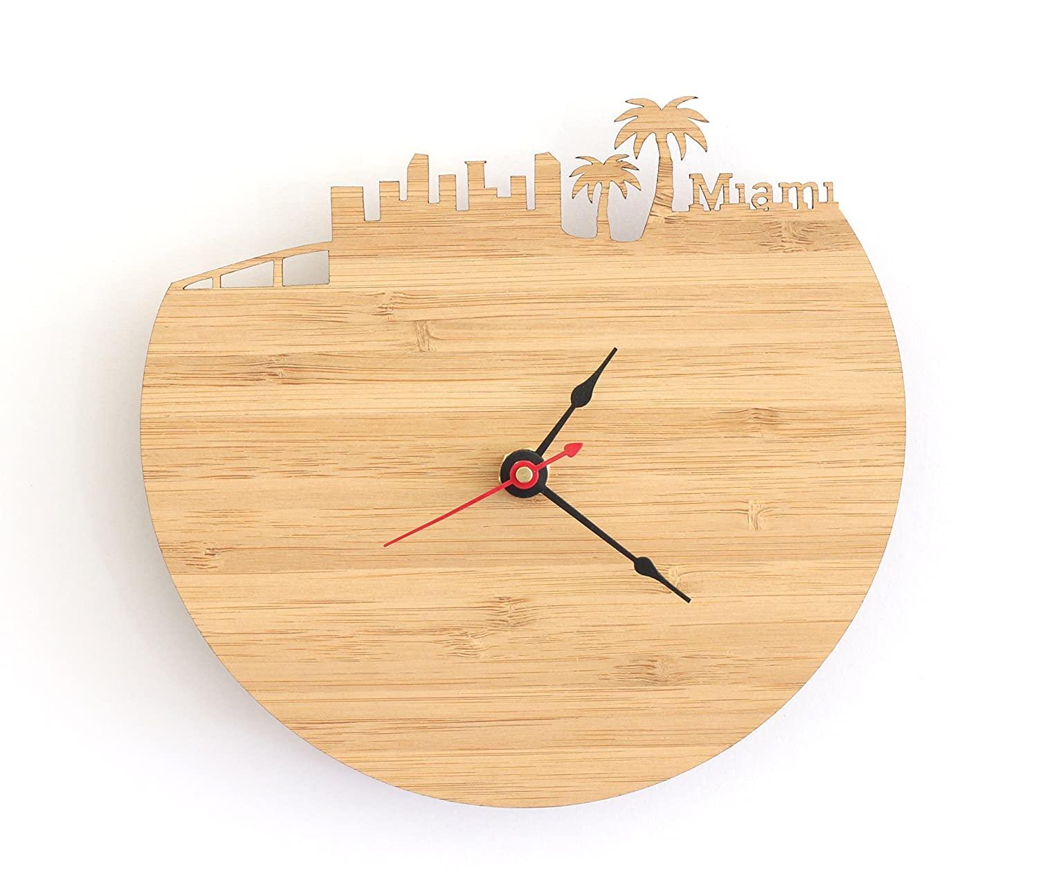 Miami Skyline Clock