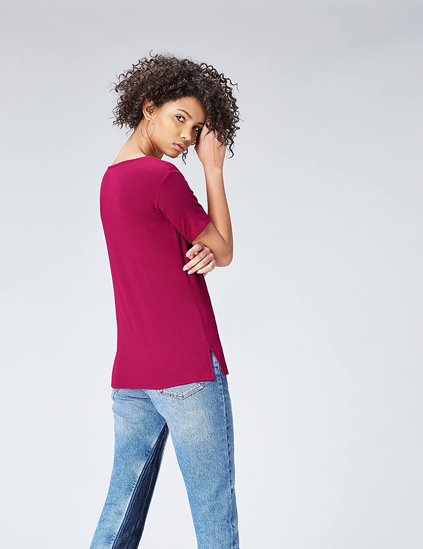 Camiseta con Cuello Redondo Mujer find