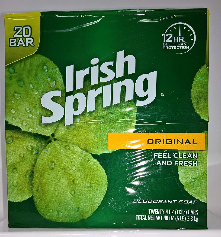 Irish Spring Original Deodorant Soap 20 x 113g Bars - 2.3 kg Colgate Palmolive Company