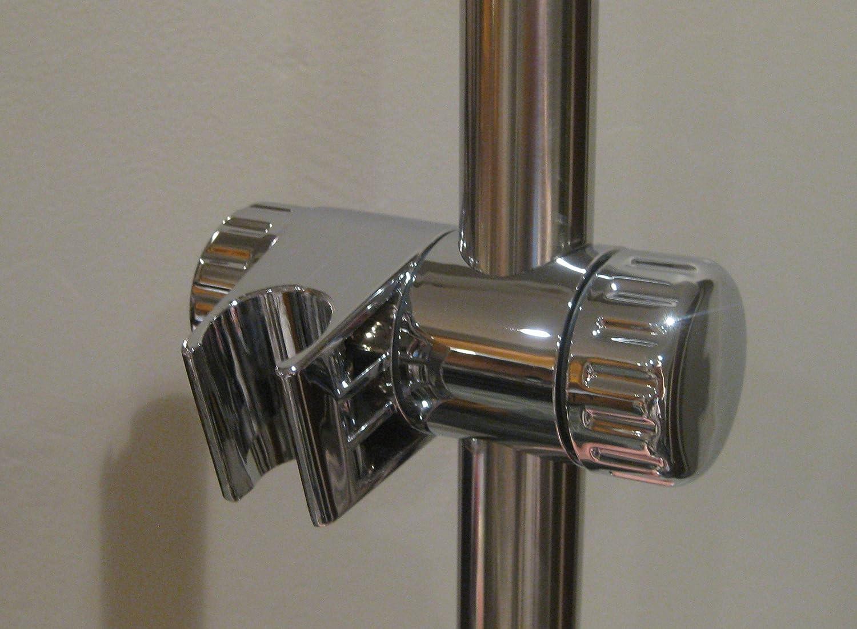 25mm Chrome Shower Head Holder Slider Bracket To Fit 25mm Riser Rail:  Amazon.co.uk: Kitchen U0026 Home