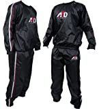 Heavy Duty Sweat Suit Sauna Exercise Gym Suit Fitness Weight Loss Anti-Rip S-XXL