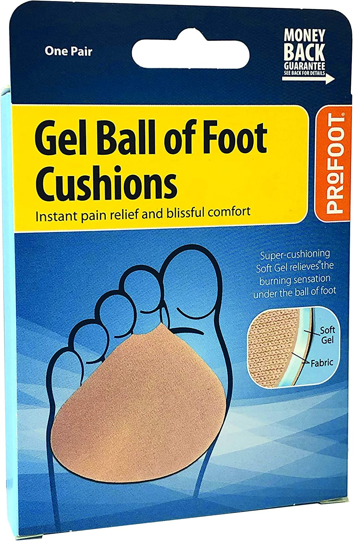 2x Gel Atmungsaktive Vorfußpolster Ball Of Foot Cushion Mittelfußpolster Weiß