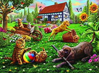 product image for Dogs and Cats at Play 1000 pc Jigsaw Puzzle by SunsOut