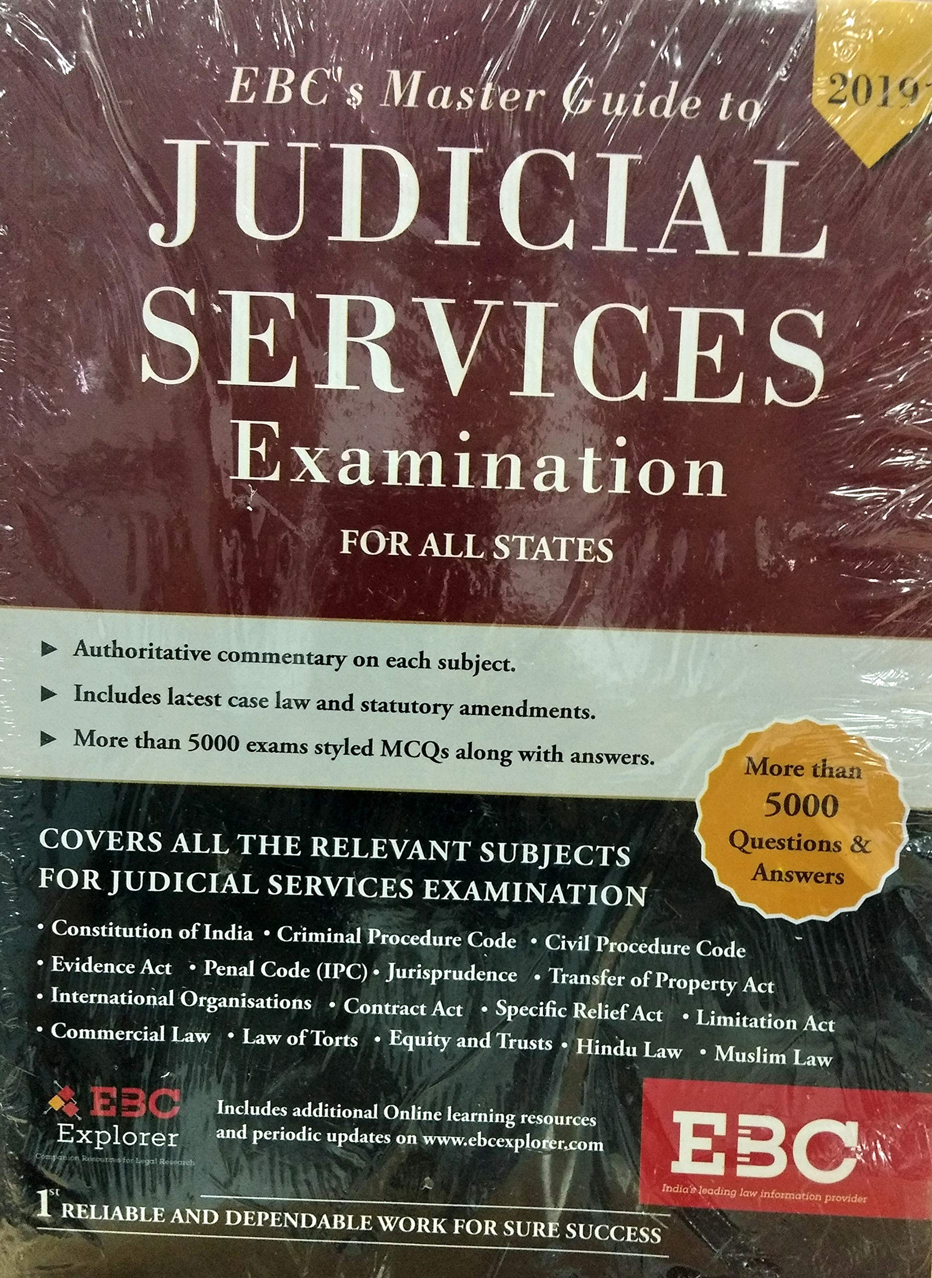Buy EBC's Master Guide to JUDICIAL SERVICES Examination for
