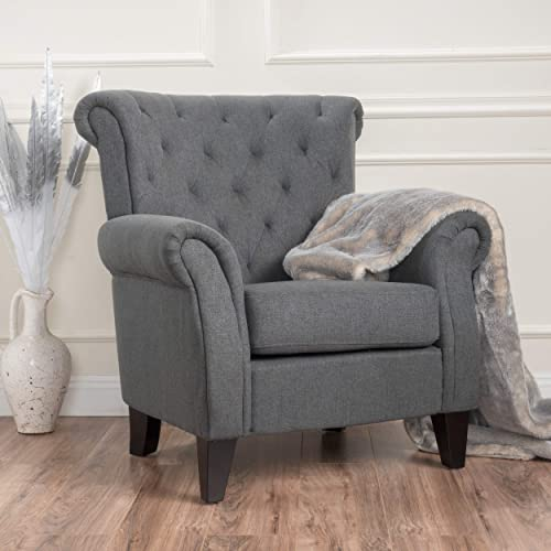 Christopher Knight Home Merritt Fabric Tufted Chair