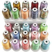 New brothread 25 Multi Colores 500M(550Y) Poliéster Bordado