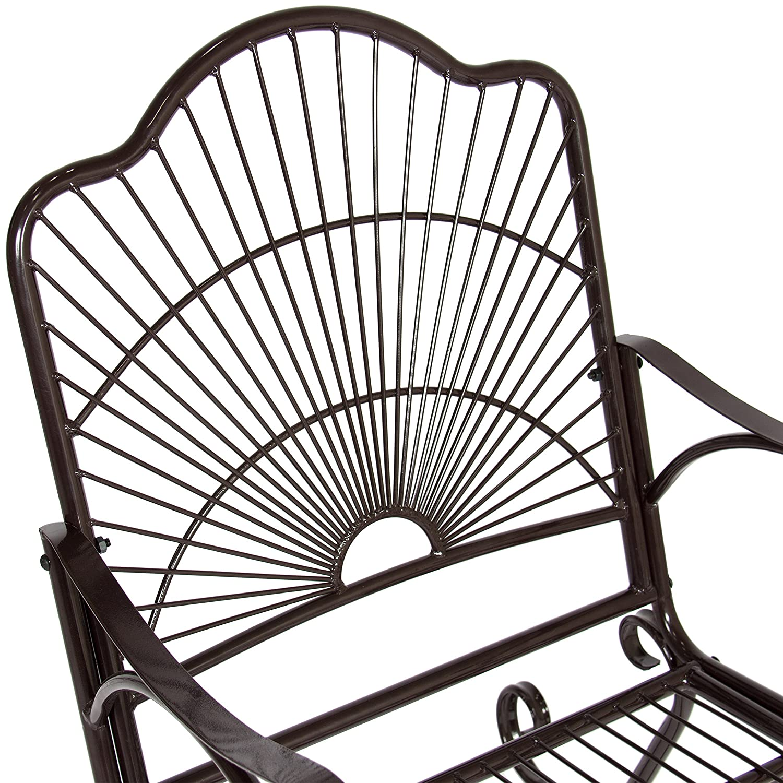 amazon com bcp patio iron scroll porch rocker rocking chair