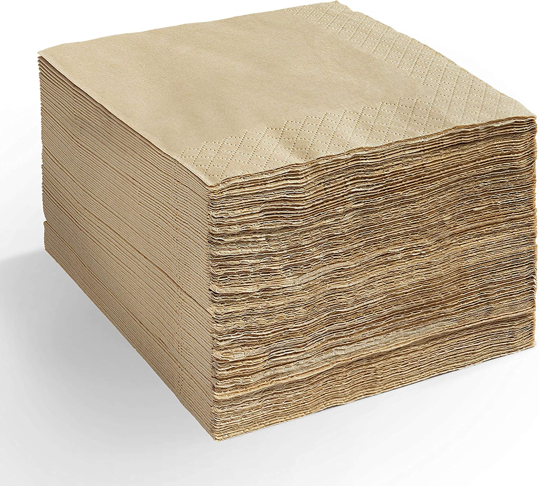 Eco Friendly Bamboo Napkins – Disposable, Biodegradable, Compostable Bamboo Linen Dinner Napkins, 4.5